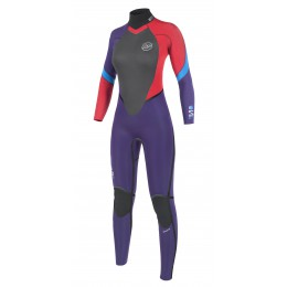 NP surf Serene Back ZIP 4/3 pourpre/rouge/bleu