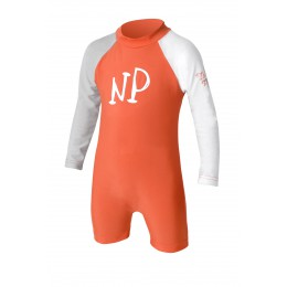 NP surf Shorty Lycra manches longues enfant orange