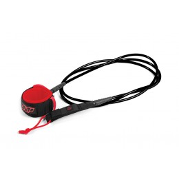 NP surf Leash de SUP genoux noir/rouge