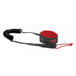 Leash de SUP Race Comp genoux noir/rouge
