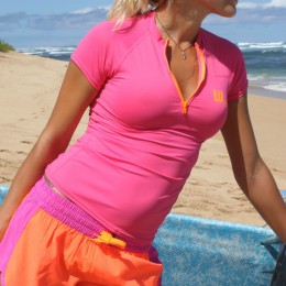 Howzit sirene top lycra rose