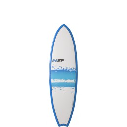 "NSP Surfboards Fish 7'4"" Bleu"