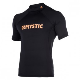 Mystic lycra star rashvest s/s noir/orange