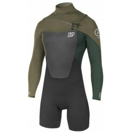 NP surf Shorty Rise Front Zip Manches Longues