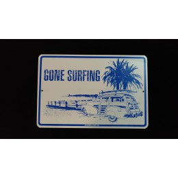 Surfpistols plaque déco metal gone surfing