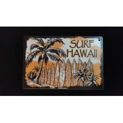 plaque déco metal Surf Hawaii