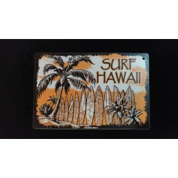 Surfpistols plaque déco metal Surf Hawaii