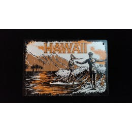 Surfpistols plaque déco metal Hawaii
