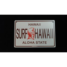 Surfpistols plaque metal Aloha State