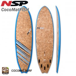 "NSP Surfboards Fish 6'4"" coco mat"