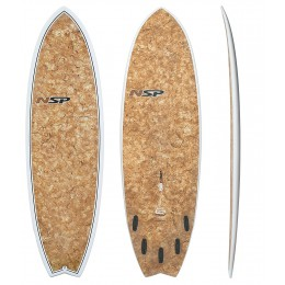 "NSP Surfboards Fish 5'6"" Cocomat"