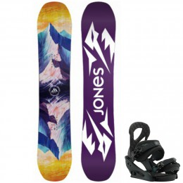 Jones Snowboards pack twin sister + fix stiletto