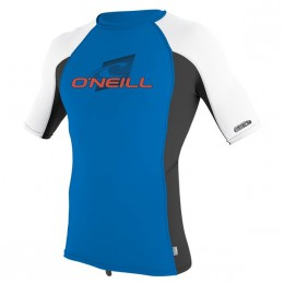 O'Neill YOUTH PREMIUM SKINS S/S RASH GUARD BLEU OCEAN