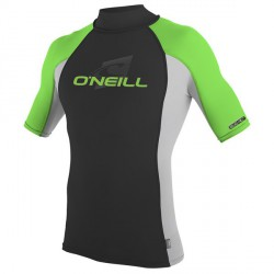 YOUTH PREMIUM SKINS RASHGUARD TURTLENECK Vert Lime