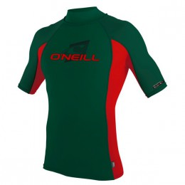 O'Neill YOUTH PREMIUM SKINS RASHGUARD TURTLENECK Vert/Rouge