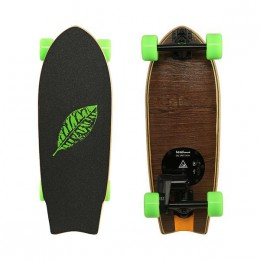 Leafboard E-Skate Leaves Walnut