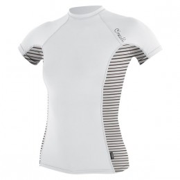 O'Neill WMS SIDE PRINT RASHGUARD White Stripes