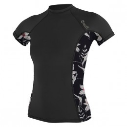 O'Neill WMS SIDE PRINT RASHGUARD Black Flower