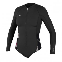 O'Neill WMS SKINS SURF SUIT BLACK FLOWER