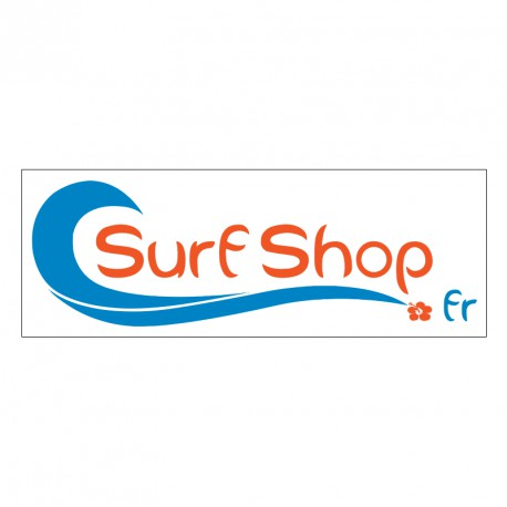 Sticker Logo SurfShop.fr Blanc