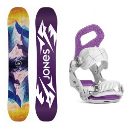 Jones Snowboards pack  Twin Sister + fix ela