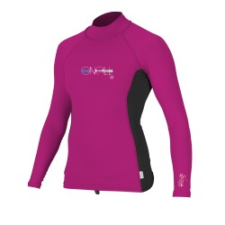GIRLS PREMIUM SKINS L/S RASHGUARD TURTLENECK