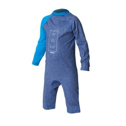 Star Rash Overall Kids Bleu