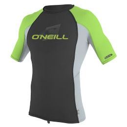 O'Neill YOUTH PREMIUM SKINS RASHGUARD Black/Green