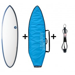 NSP Surfboards PACK Element Hybrid Bleu