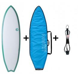 NSP Surfboards Pack Element FISH Blanc/Vert