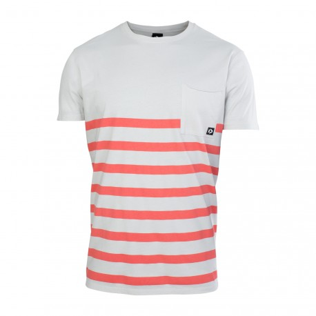 Tee SS Striped Light Grey