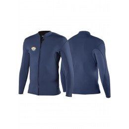 Vissla 2MM SOLID SETS FRONT ZIP JACKET-NIG