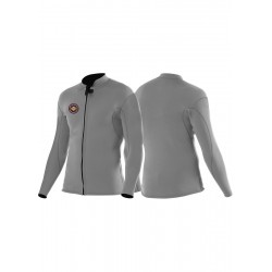 2MM SOLID SETS FRONT ZIP JACKET-GRY