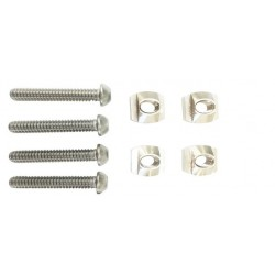4x Track nuts M8, screws M8x35 and washers