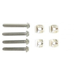 Sabfoil 4x Track nuts M8, screws M8x35 and washers