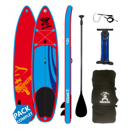 """PACK STAND UP PADDLE PIRATE 10'6""""X32''X5''"""