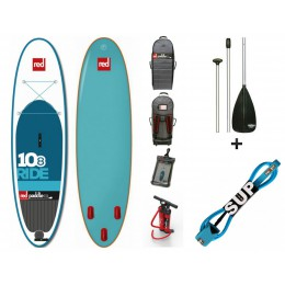 Red Paddle pack 10'8 RIDE + pagaie 3 parties + leash
