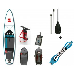 Red Paddle pack 12'6 SPORT + pagaie 3 parties + leash