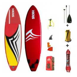 Sroka pack WAVES 9'5 + pagaie alu + leash