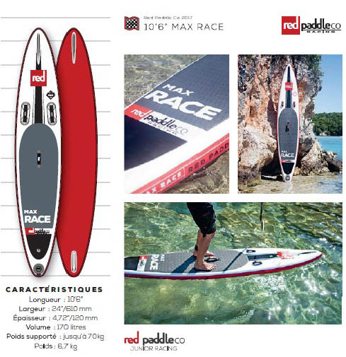 Red-paddle-planche-SUP-Max-Race
