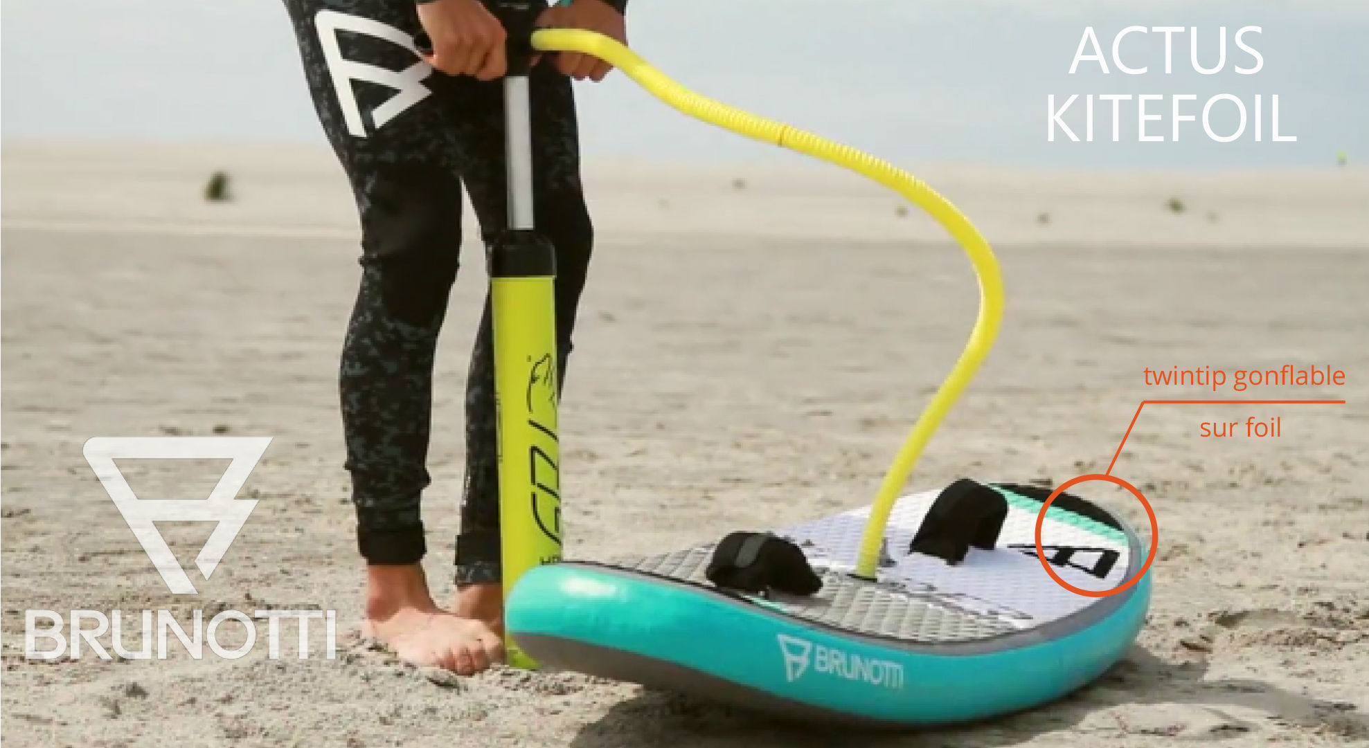 Kitefoil twintip gonflable